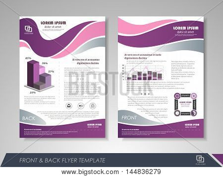 Front and back page brochure template. Flyer design leaflet cover for business presentations magazine covers posters booklets banners