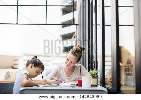 Teacher Student Tutor Homework Lesson Concept