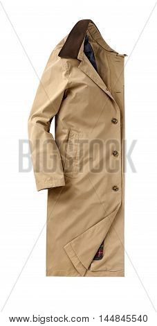 mens overcoat isolated on a white background