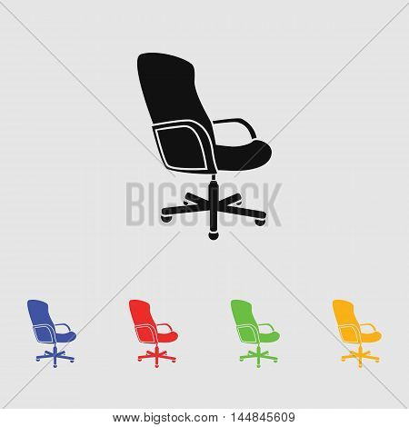 Office ichair con vector icon for web and mobile.