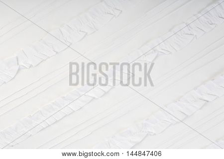 White Fabric With Frill