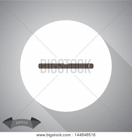 The building level icon. Bubble Level symbol