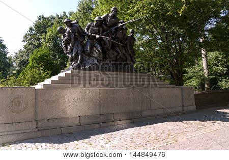 WWI memorial for the 7th Regiment of the New York Militia - US 107TH Central Park New York