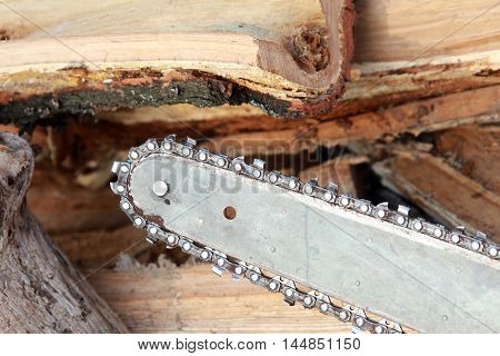 Saw And Firewood