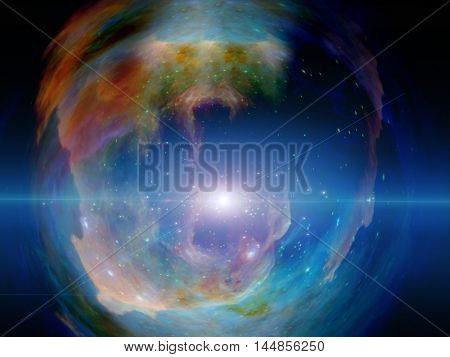 Galactic Space Elements of this image furnished by NASA  3D Rendered