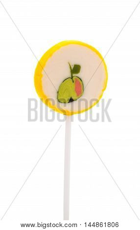 lollipop sugary candy on a white background