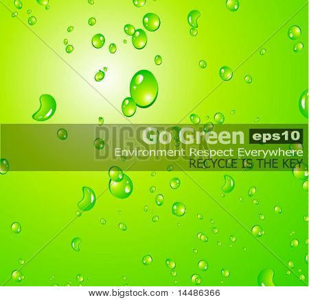 Liquid Drops Background with water on Christal Surface Effect