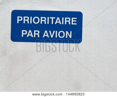 Prioritaire Par Avion In Paris