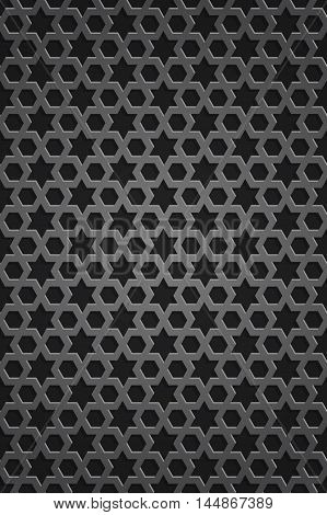 Stellar seamless pattern. Islamic pattern. Endless texture. Metal grille with an ornament in Islamic style. Vector illustration
