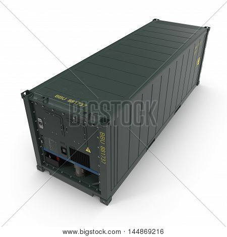 ISO Refrigerated Container isolated on white background 3D Illustration
