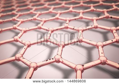 Nano-grid, 3D illustration. Can be used for nanotechnology and nanomedicine