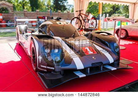 Potsdam Germany - August 27 2016: Sportcar Porsche at the open motor Rally Hamburg-Berlin Klassik the date of August 25-27