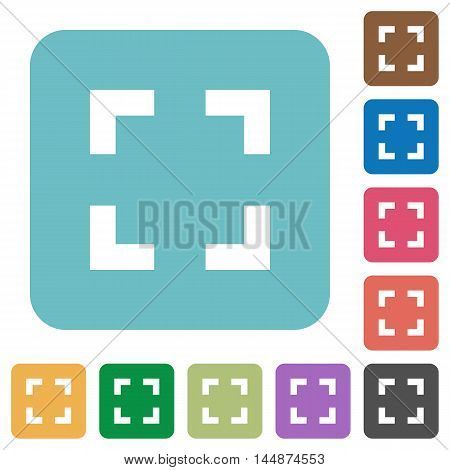 Flat selector tool icons on rounded square color backgrounds.