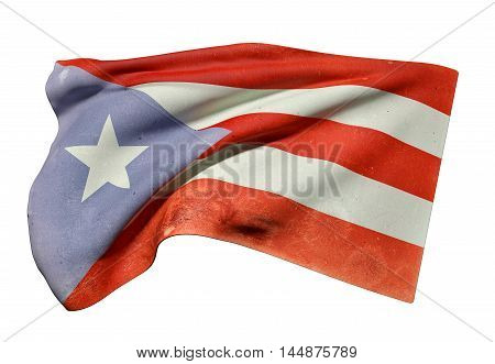 Commonwealth Of Puerto Rico Flag Waving