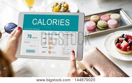 Calories Nutrition Food Exercise Concept