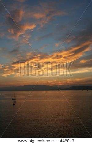 Sunset In Cannes From The St. Marguerite'S Island