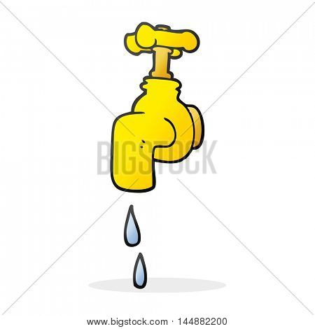 freehand drawn cartoon dripping faucet