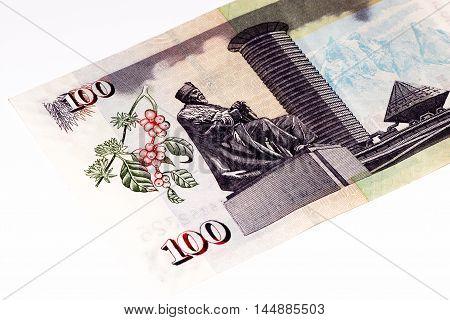 100 Kenyan shillings bank note of Kenya. Kenyan shilling is the national currency of Kenya