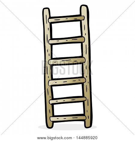 freehand drawn cartoon ladder