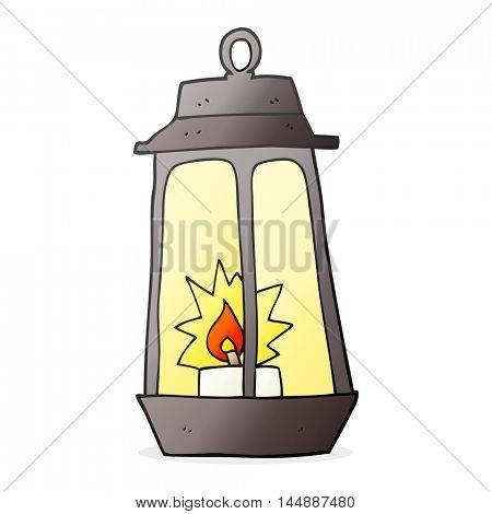 freehand drawn cartoon lantern