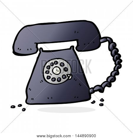 cartoon retro telephone