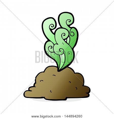 cartoon smelly poop