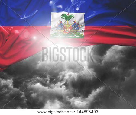 Haiti flag on a bad day
