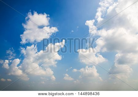 White clouds and clear bluesky weather nature.