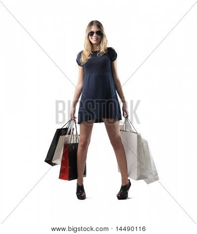 Beautiful woman holding some shopping bags