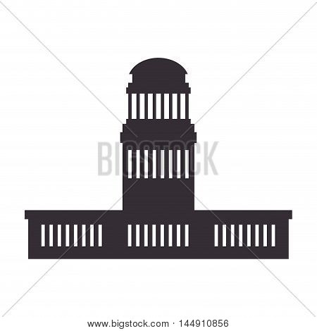 building structure property edifice business urban construction silhouette vector illustration