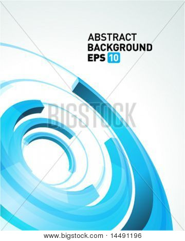 Abstract 3d circle bend lines vector backgound. Eps 10.