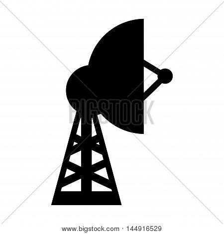 antenna tower structure signal telecommunication equipment silhouette vector illustration