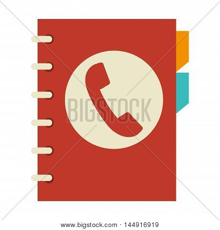 directory book agend phone icon contacts communication vector illustration poster