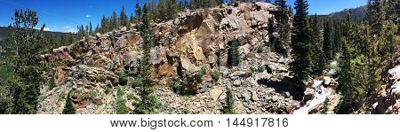 Rocky Mountain National Park Panoramic Landscape View
