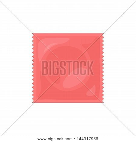 Contraception method condom. Contraceptive icons set. Safe sex. Disease prevention and birth control. Planning pregnancy. Flat vector illustration isolated on white background