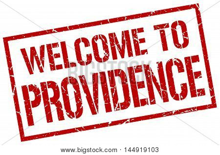 welcome to Providence. stamp. grunge square sign