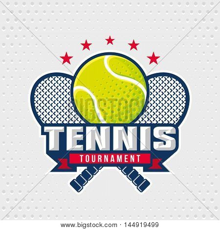 Tennis logo design template emblem tournament template editable for your design.