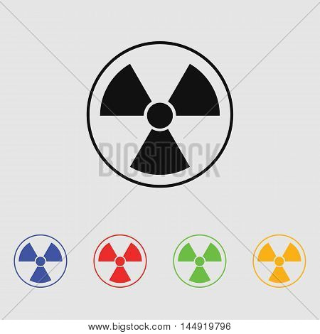 The radiation icon. Radiation symbol. Vector icon for web and mobile