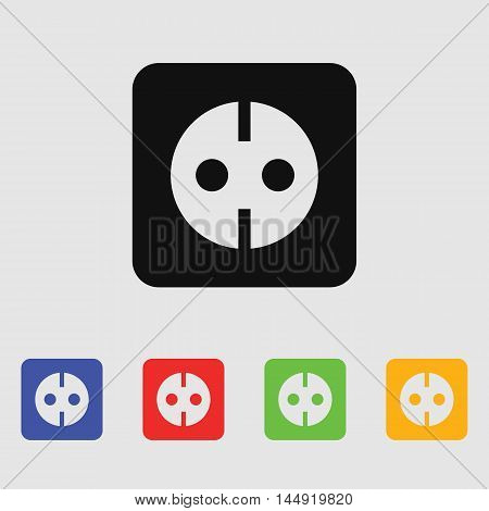Power socket for the AC grounding Vector icon for web and mobile