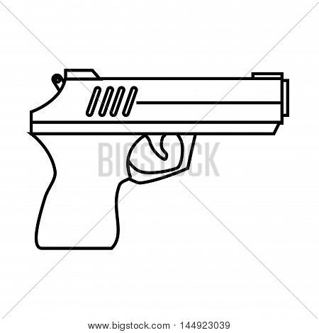 gun weapon semiautomatic handgun pistol gun firearm shot vector illustration
