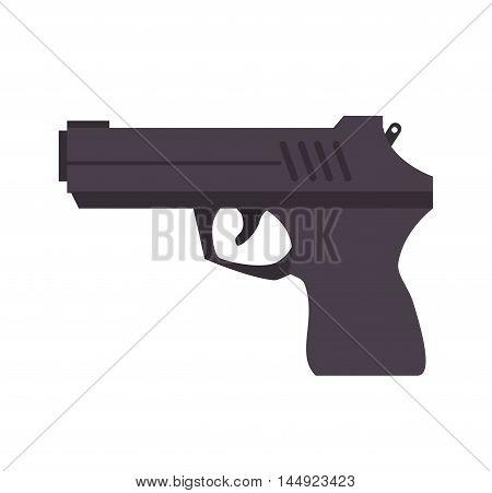 gun weapon semiautomatic handgun pistol gun firearm shot vector illustration