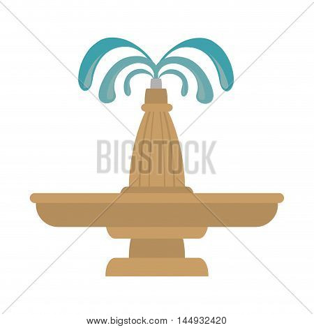 fountain water park exterior decoration architecture symbol vector illustration