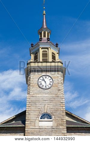 First Parish Church in Portland. It is an historic church at 425 Congress Street in Portland Maine. Built in 1825 for a congregation established in 1674
