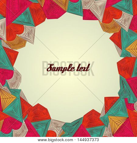 Vintage vector background with paper border decoration, divider, header, ornamental frame template,