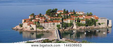 Respectable Resort Island Of Sveti Stefan. Montenegro