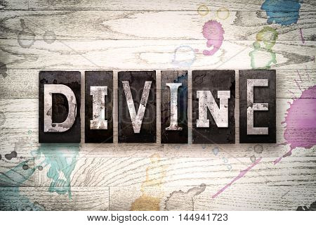 Divine Concept Metal Letterpress Type