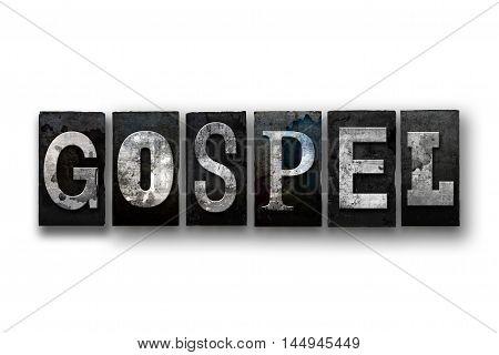 Gospel Concept Isolated Letterpress Type