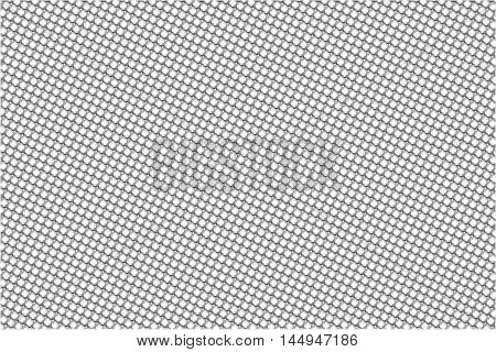 flat background with small dots circle and unique shapes