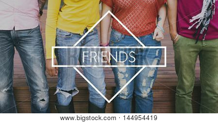 Friends Buddy Relationship Together Concept poster