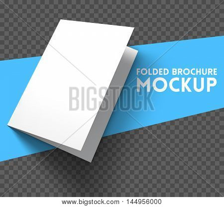Magazine, booklet, postcard, flyer, business card or brochure mockup template. Good for business presentations and advertisements. Mockup on transparent background. Vector Illustration.